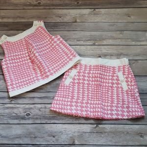 Janie and Jack Toddler Girls Houndstooth S…